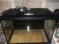 Fish Tank - 70l with LED lights good condition
