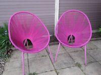 Garden Chairs by Next - Stunning Pink