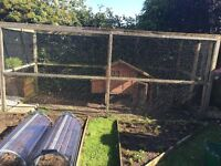 Chicken coop and fully enclosed run