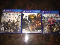 3 PS4 games for sale