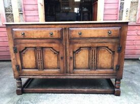 Antique Sideboard Oak & Walnut Georgian Style Sideboard - Delivery Available