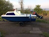 14 Ft CJR Boat with 40HP Yamaha Outboard Engine