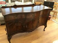 Attractive antique sideboard. Some scratches to side and top. 52 cms deep, 142 cm long, 9 cms high