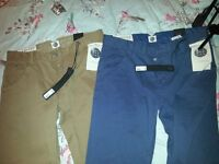 2 pairs of chino style jeans - never worn