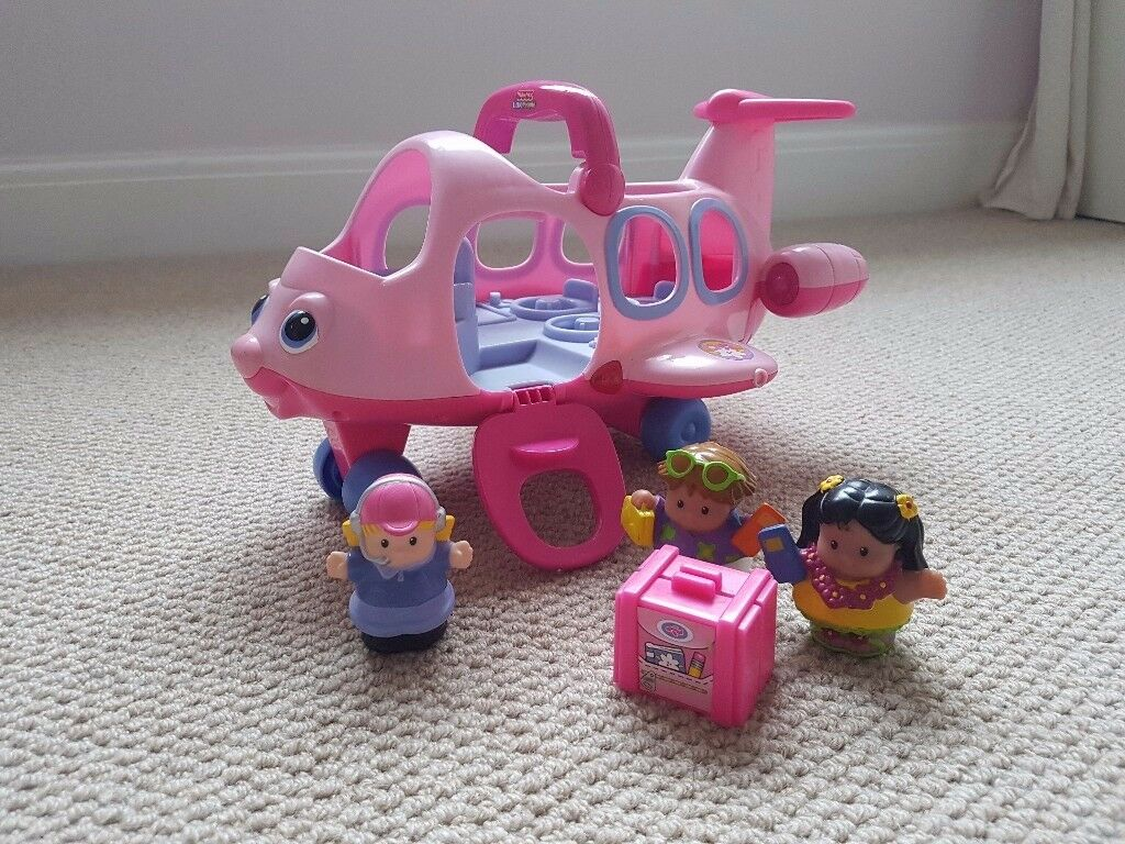 Fisher price Little People aeroplane pink baby toddler toy