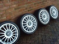 Secondhand Set of 4 x 7.5 x 16, 4 stud fitting tsw alloy wheels