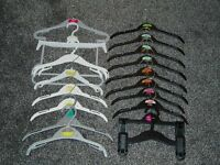FREE - CHILDRENS CLOTHES HANGERS x 18