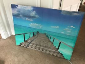 A large beach canvas