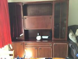 Wall Unit and Dining Table and 4 Chairs