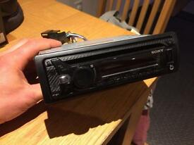 Sony head unit USB carbon fibre looking