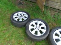 mini cooper alloys and tyres