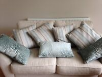 Set of 8 cushions pastel blue tones all brand new from DFS excellent quality