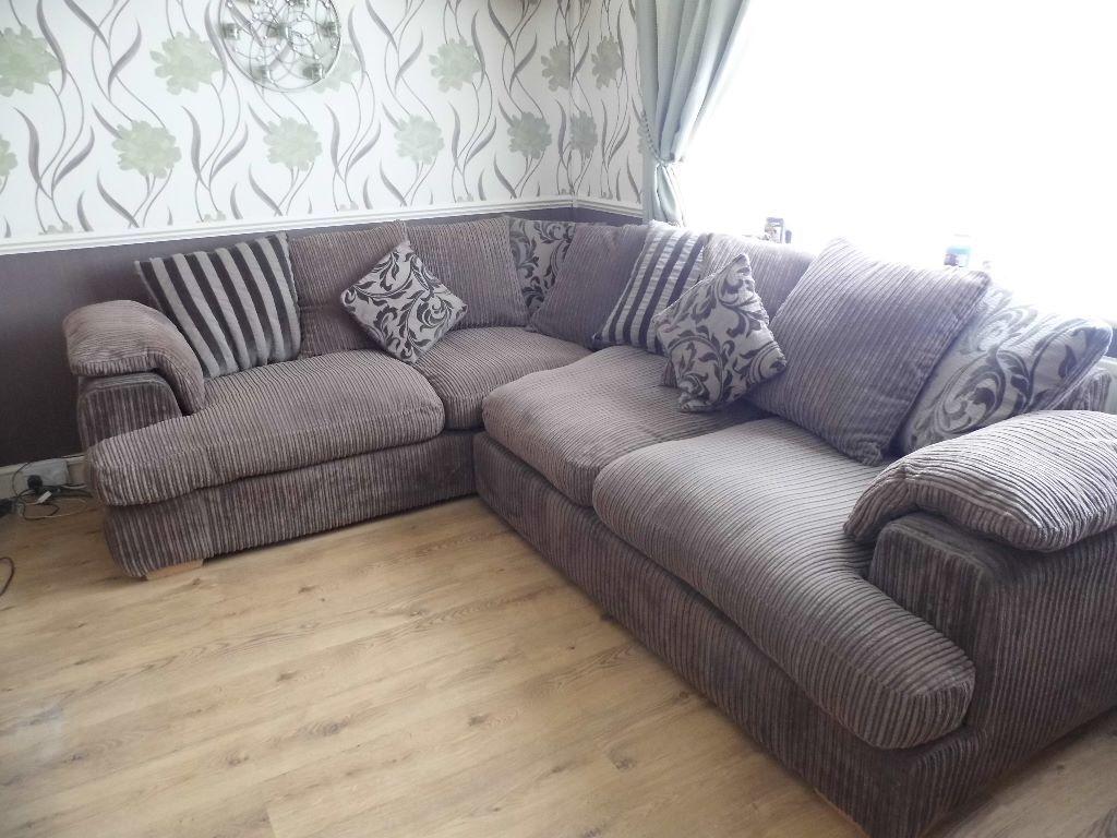 Dfs Celine Right Hand Corner Sofa In Mocha In Birkenhead