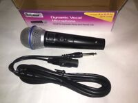 4 Mr Entertainer G158B Dynamic Handheld Karaoke Microphones With Lead 600 Ohm