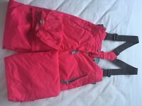 Ski Trousers Child 9-10 yrs Boden PINK