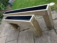 Raised Patio Planter (4') Bedding Plants / Herbs. No More Bending. Brand new, Lined & Treated Wood.