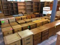 Quality used solid wood / pine bedside cabinet / drawers