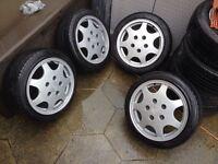 """Genuine Porsche D90 16"""" Wheels & Falken Tyres Staggered 7 & 7.5j Vw Golf Mk2 G60"""