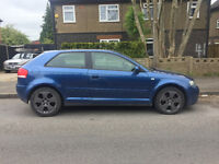 2004 04.REG AUDI A3 2.0 TDI SPORT D.S.G AUTO PADDLE SHIFT 3 DR IN BLUE NEEDS ATTENTION