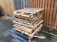 10 wooden pallets