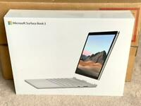 """MICROSOFT SURFACE BOOK 3 HIGH SPEC 13.5"""" LAPTOP BRAND NEW SEALED BOX 1 YEAR WARRANTY rrp £1599"""