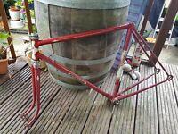 Vintage French Steel Bike Frame