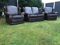 Italian leather sofa suite immaculate can deliver