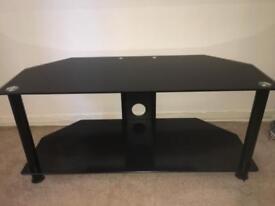 Black interior glass tv unit