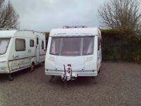 Sterling Eccles amethyst,5 berth single axle touring caravan,family suited layout.