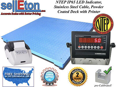 Ntep Legal 60 X 84 Floor Scale Industrial Warehouse Printer 10000 X 2 Lb