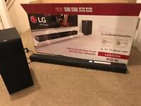 LG 2.1 300W SOUND BAR FULLY BOXED LIKE NEW