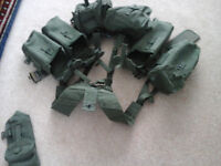 58's Webbing (Sand belt, 4 kidney pouches, 1 spare kidney pouch, 2 large pouches, 1 bayonet holder)