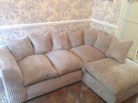Cream Right Arm Corner Sofa