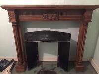 Victorian timber fire surround and cast iron fireplace.
