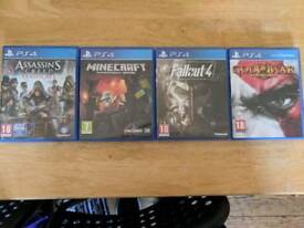 Range of PS4 games