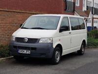 Volkswagen Transporter T5 1.9 TDI + 2004/04 + (LHD) LEFT HAND DRIVE + 9 SEATER + UK REG + 1 OWNER +