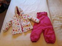 Girls 12-18m Tresspass coat and trousers