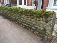 Sandstone wall stones
