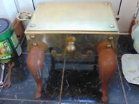 Vintage Cast Iron and Brass Table
