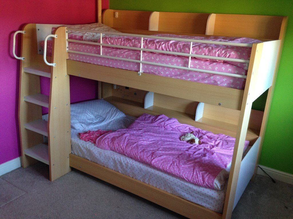 Julian bowen domino bunk bed maple and white in for Gumtree bunk beds