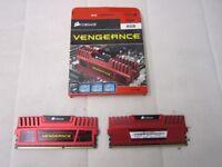 Corsair CMZ8GX3M2A1600C9R Vengeance 8GB (2 x 4GB) DDR3 1600 Mhz CL9 XMP