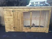 3m x 1.2m dog run/ kennel & run