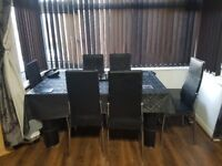 Glass Dining table/6chairs