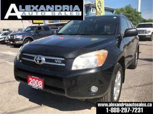 2008 Toyota RAV4 Limited/V6/sunroof/dealer serviced/safety inclu