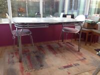 Great Retro Metal with Formica Top extending Table 1958/60's