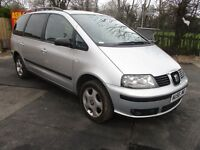 2006 56 SEAT ALHAMBRA 2.0 STYLANCE TDI ESTATE 7 SEATER SPARES AND REPAIRES SMOKES MOT 9/16 PX SWAPS