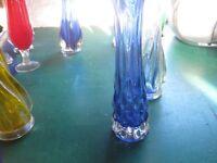 Glass twist bud vases