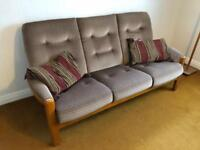 3 seater & 2 armchairs vintage