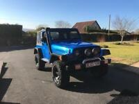 Jeep Wrangler 4.0 manual with high lift kit and rugged ridge suspension