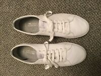 Lacoste Marcel Ortholite White Leather Trainer, Mens /Youth size 10